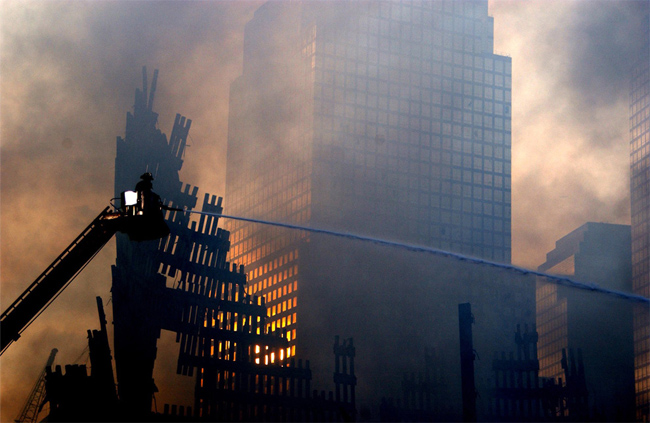 9/11: Fireman fighting the fire at WTC